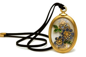 """Medaillon Amulett """"Leberblümchen"""""""